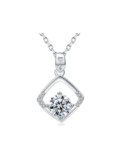 Diamond Shaped Shining Zircons Clavicle Necklace