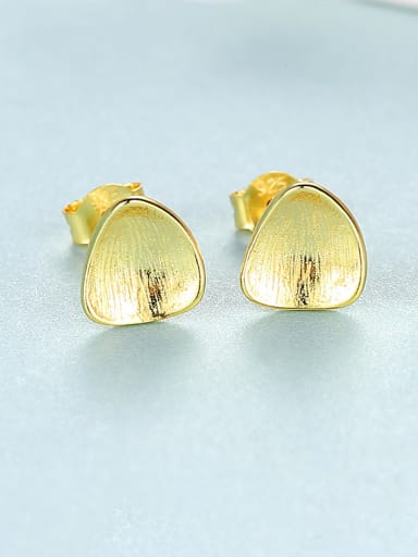 925 Sterling Silver With  Simplistic Glossy Stud Earrings