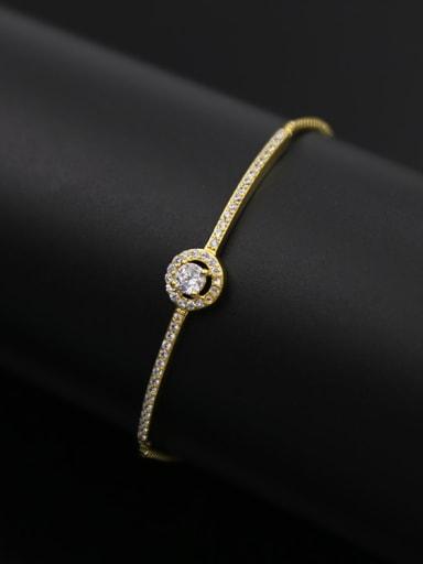 Copper Zircon  Adjustable Bracelet
