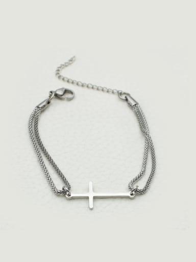Small Cross Shaped Women Bracelet