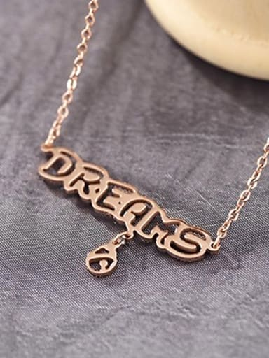 DREAMS Letter Pattern Titanium Necklace