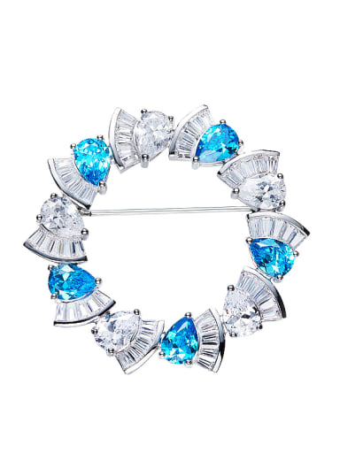 2018 Blue Swarovski Crystals Brooch