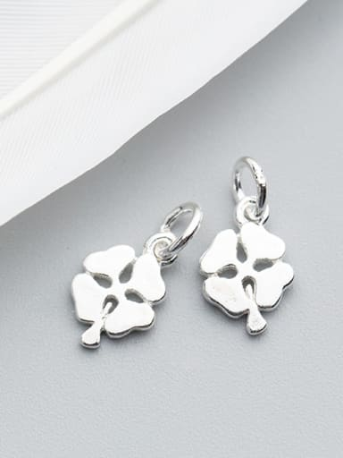 925 Sterling Silver With Silver Plated Romantic Clover Charms