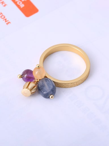 Women Exquisite Crown Shaped Gemstone Ring