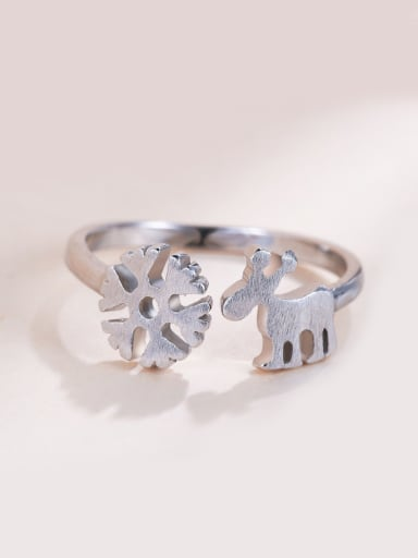 925 Silver Snowflake Shaped Ring