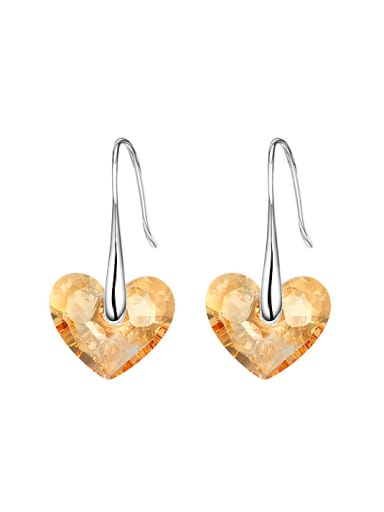 Heart-shaped S925 Silver hook earring
