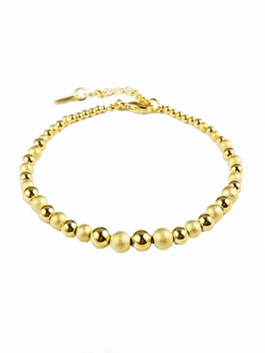 Simple Beads Gold Plated Bracelet
