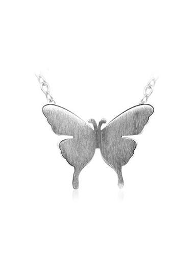 Women 925 Silver Butterfly Shaped Necklace