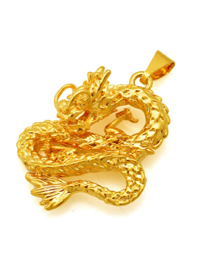 Gold Plated Dragon Shaped Pendant