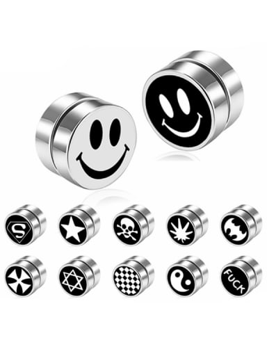 Stainless Steel With Simplistic Round Stud Earrings