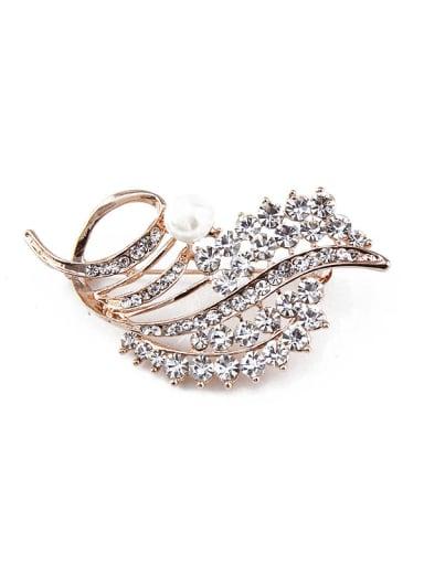 Crystals Pearl Brooch