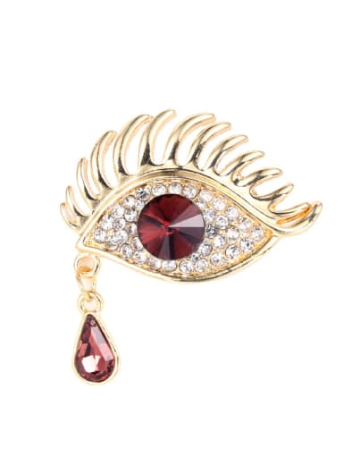 Alloy With Rose Gold Plated Exaggerated Evil Eye Brooches