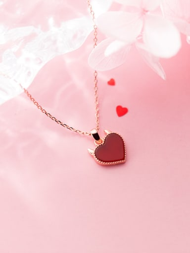925 Sterling Silver With Platinum Plated Cute Heart Locket Necklace