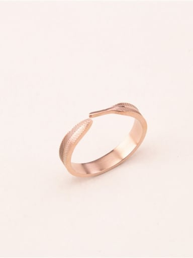 Feather Shaped Opening Fashion Ring
