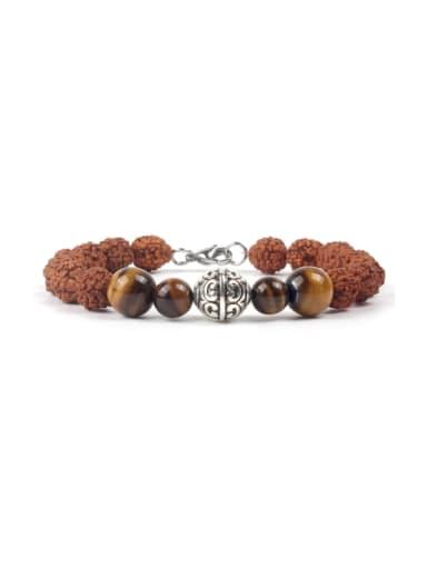 Wooden Alloy Beads Hot Selling Bracelet