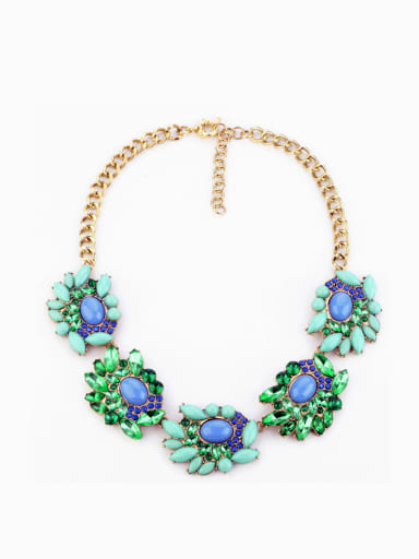 Alloy Artificial Gemstons Necklace