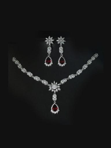 Elegant  Wedding Two Pieces Jewelry Set