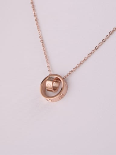 Rose Gold Plated Fashion Simple Necklace