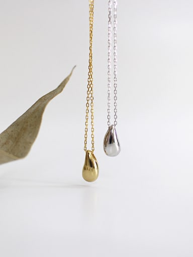 Sterling silver personality versatile drop-shaped necklace