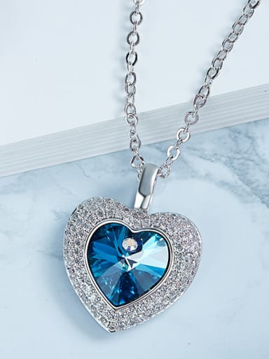 Swarovki Crystals Heart Shaped Necklace