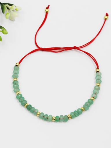 Adjustable Length Red Rope Gemstones Bracelet