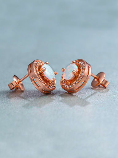 2018 Rose Gold Plated Round stud Earring