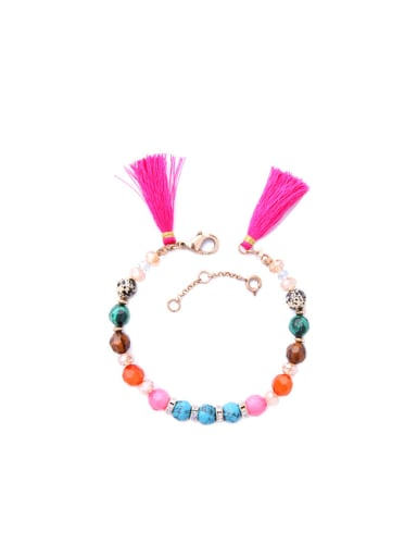 Colorful Tassel Women Alloy Bracelet