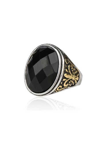 Retro style Oval Stones Alloy Ring