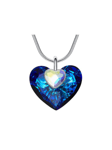 2018 2018 Heart-shaped Crystal Necklace