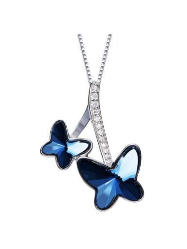 Butterfly-shaped S925 Silver Necklace