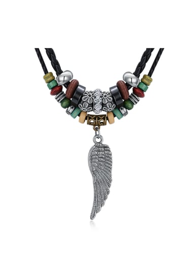 Retro style Beads Wing Sweater Chain