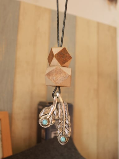 Wooden Diamond Shaped Shaped Necklace