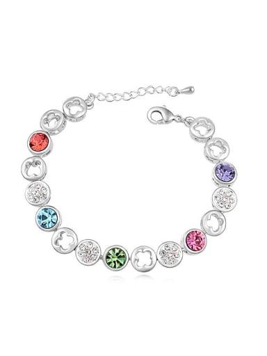 Fashion Cubic Swarovski Crystals Alloy Bracelet