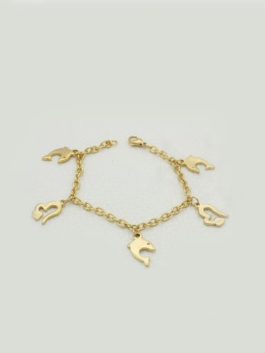 Golden Dolphin Heart-shaped Accessories Bracelet