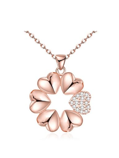 Fashion Heart shapes Zircon Necklace