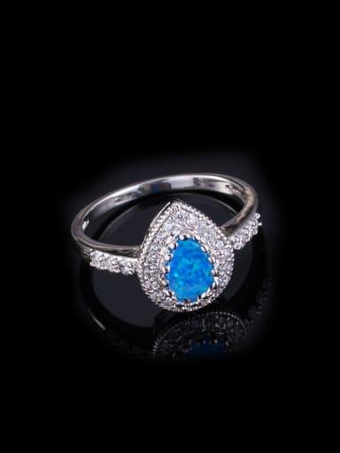 AAA Water Drop Shaped Zircon Engagement Ring