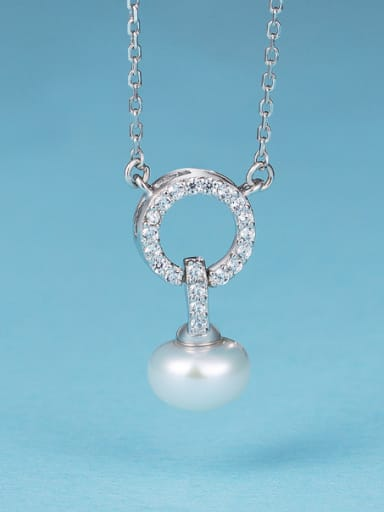 2018 925 Silver Pearl Necklace
