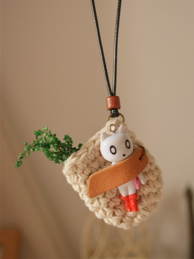 Lovely Cat Shaped Polyester Necklace
