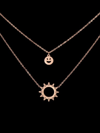 Simple Style Fashion Double Layer Women Necklace