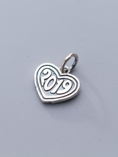 925 Sterling Silver With Antique Silver Plated Vintage Heart Pendants