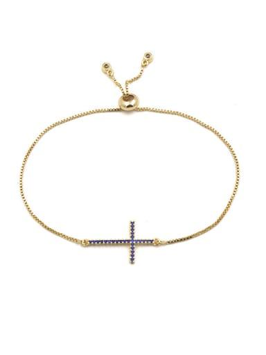 Cross-shape Micro Pave Exquisite Women Bracelet