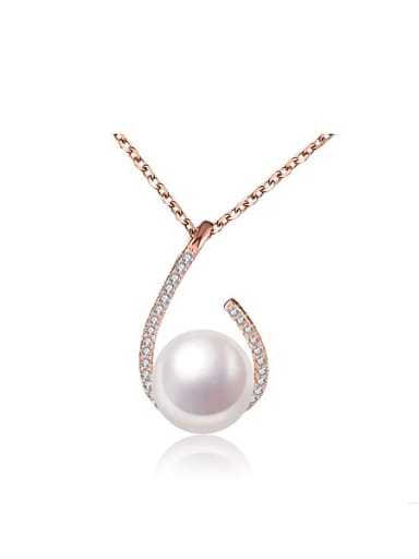 2018 2018 Fashion Freshwater Pearl Water Drop shaped Necklace