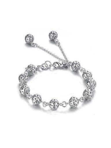 Fashion Hollow Beads Copper Bracelet
