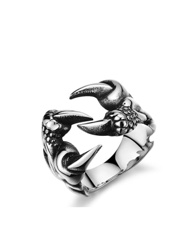 Punk style Personalized Dragon Claw Titanium Ring