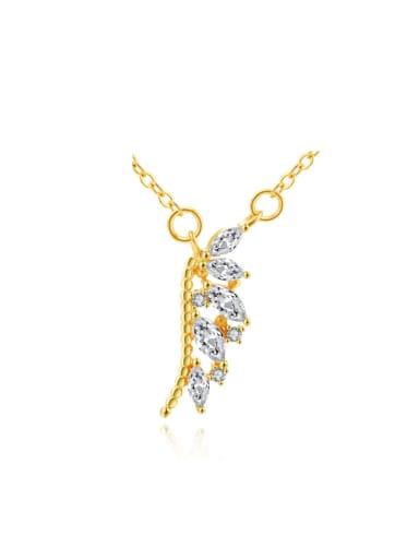 S925 Silver Irregular Zircons Pendant Necklace