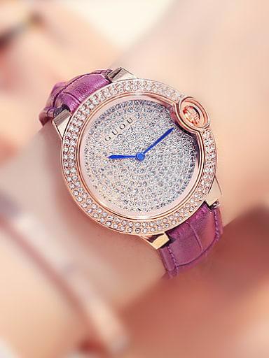 GUOU Brand Fashion Rhinestones Women Watch