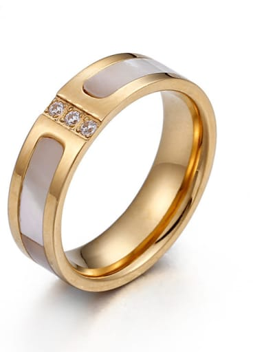 Stainless Steel With 18k Gold Plated Trendy Rings
