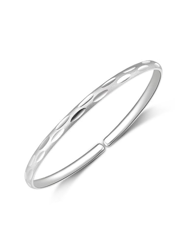 Bohemia style 999 Silver Polish Opening Bangle