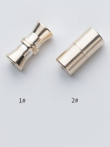 925 Sterling Silver With Silver Plated Twisted screw Snap Settings
