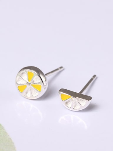 Simple  Asymmetry Fruit Stud Earrings